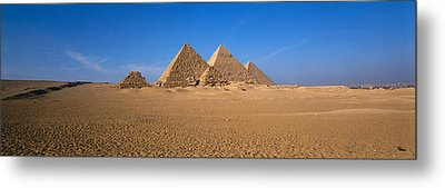 The Great Pyramids Giza Egypt Metal Print by Panoramic Images