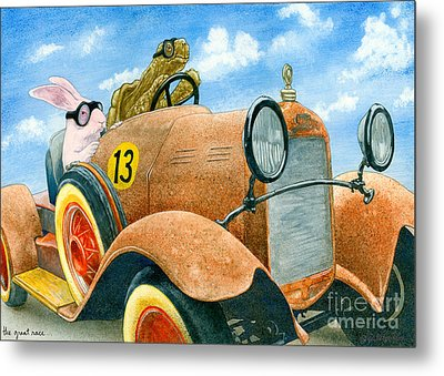 The Great Race... Metal Print by Will Bullas