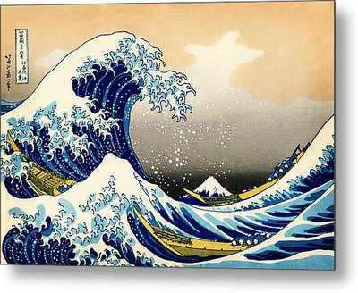 The Great Wave At Kanagawa Metal Print