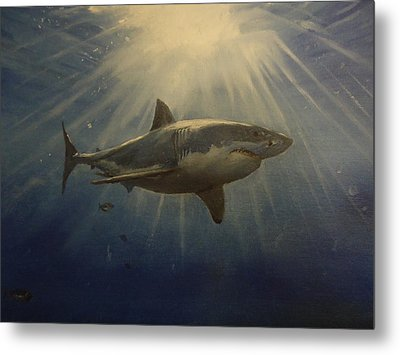 The Great White King Of The Seas Metal Print by Alexandros Tsourakis