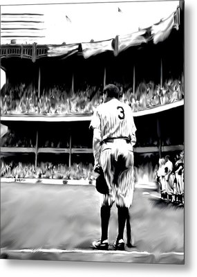 The Greatest Of All  Babe Ruth Metal Print by Iconic Images Art Gallery David Pucciarelli