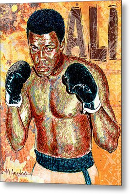 The Greatest Of All Time Metal Print by Maria Arango