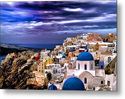 The Greek Isles Santorini Metal Print
