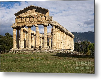 The Greek Temple Of Athena Metal Print
