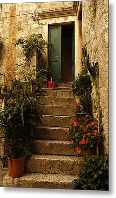 The Green Door Metal Print by John Jacquemain
