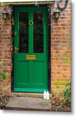 The Green Door Metal Print by Mark Llewellyn