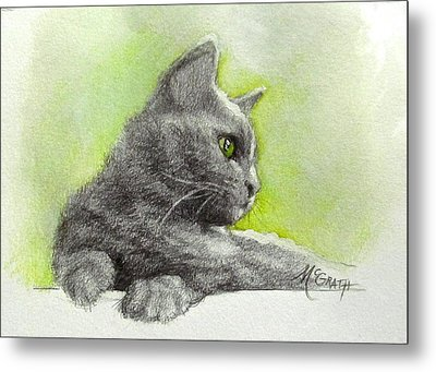 The Green Eye Metal Print by Janet McGrath