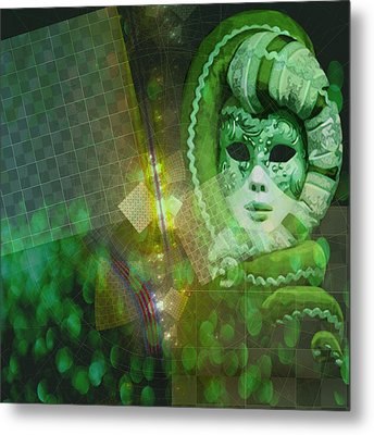 Metal Print featuring the digital art The Green Lady by Melissa Messick