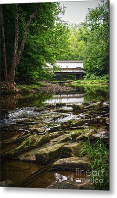 Metal Print featuring the photograph The Green Sergeants Covered Bridge II by Debra Fedchin