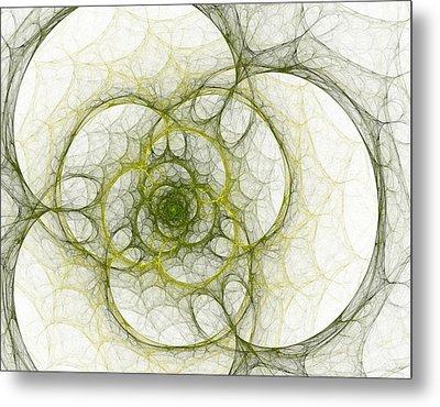 The Green Sphere Metal Print by Steve K