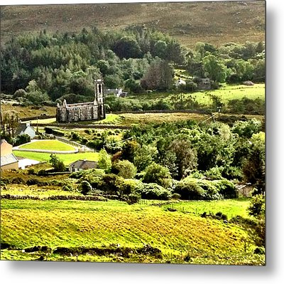 Metal Print featuring the photograph The Green Valley Of Poisoned Glen by Charlie and Norma Brock