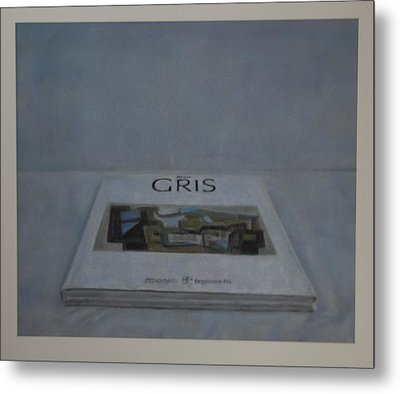 The Gris Book Metal Print by Paez  Antonio