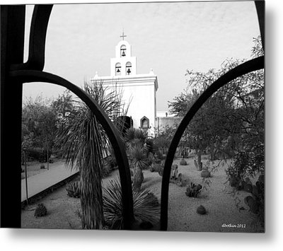 The Grounds Of San Xavier Metal Print by Dick Botkin