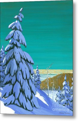 Metal Print featuring the painting Blue Mountain High by Michael Swanson