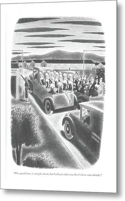 The Guard House Is Straight Ahead Metal Print by Richard Taylor