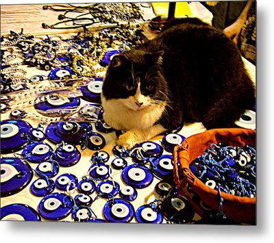 Metal Print featuring the photograph The Guard Of Evil Eye Beads by Zafer Gurel