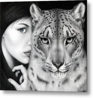 Metal Print featuring the painting The Guardian by Pat Erickson