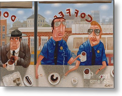 The Guilty Guy 1993 Metal Print by Larry Preston