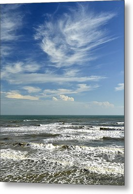 The Gulf Of Mexico From Galveston Metal Print