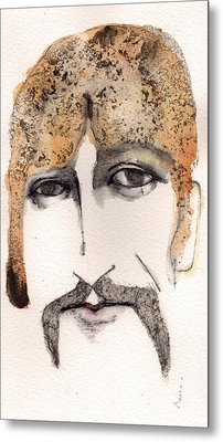 The Guru As George Harrison  Metal Print by Mark M  Mellon