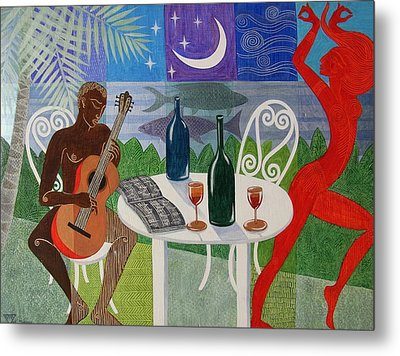 The Gypsy And The Troubadour Metal Print by Jennifer Baird