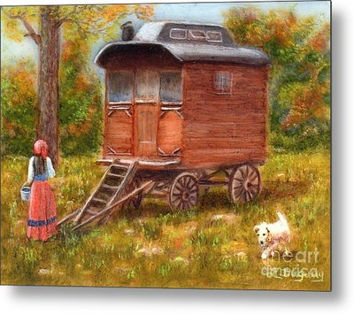 The Gypsy Caravan Metal Print