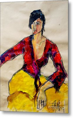 The Gypsy - Pia #2 - Figure Series Metal Print by Mona Edulesco