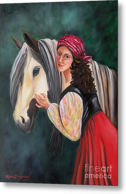 The Gypsy's Vanner Horse Metal Print