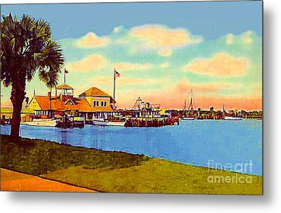 The Halifax River Yacht Club In Daytona Beach Fl In 1920 Metal Print