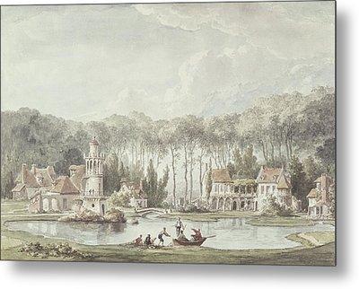The Hameau, Petit Trianon, 1786 Wc Metal Print by Claude Louis Chatelet