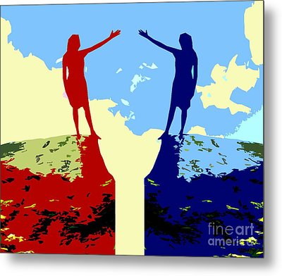 The Hand Of Friendship Metal Print by Patrick J Murphy