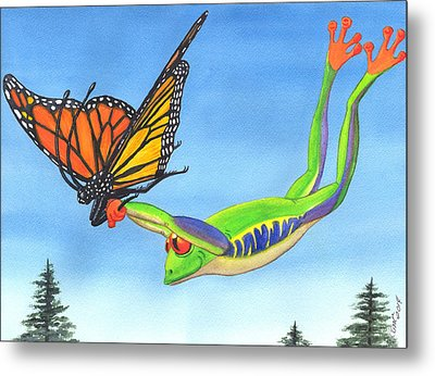 The Hang Glider Metal Print
