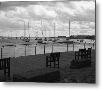 The Harbor Metal Print by Barbara Bardzik