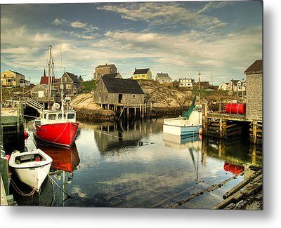 The Harbour At Peggys Cove Metal Print