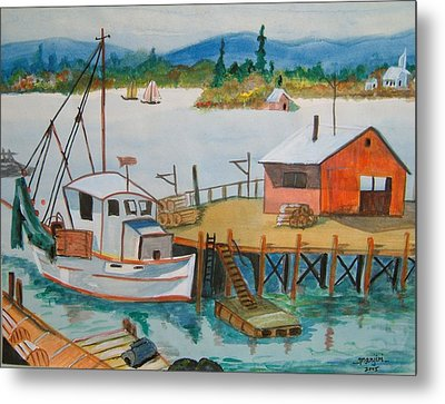 The Harbour Metal Print