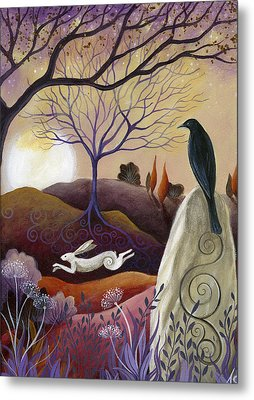 The Hare And Crow Metal Print
