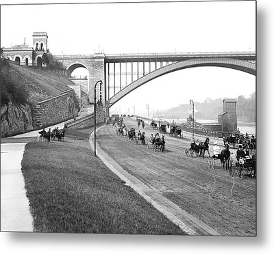 The Harlem River Speedway Metal Print by Detroit Publishing Company