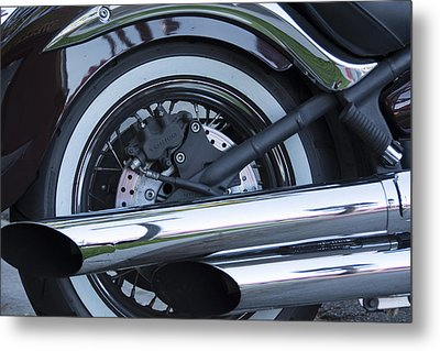 Metal Print featuring the photograph The Harley- Is There Really Anything Else by Renee Anderson