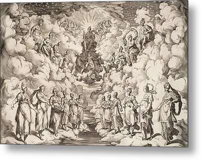 The Harmony Of The Spheres Metal Print by Agostino Carracci
