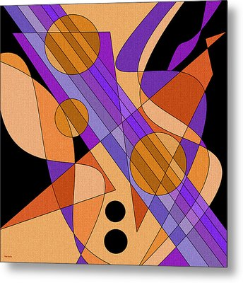 Electric Harp Metal Print by Val Arie