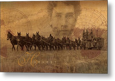Metal Print featuring the photograph The Harvest by Ron Crabb