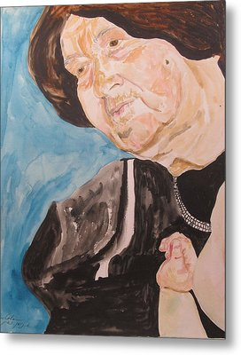 The Hassidic Grandmother Metal Print by Esther Newman-Cohen