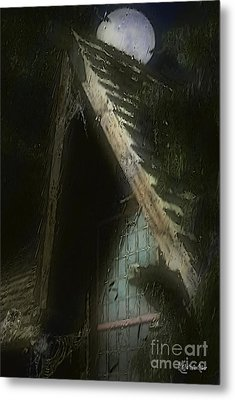 The Haunted Gable Metal Print by RC DeWinter