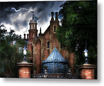 The Haunted Mansion Metal Print by Mark Andrew Thomas