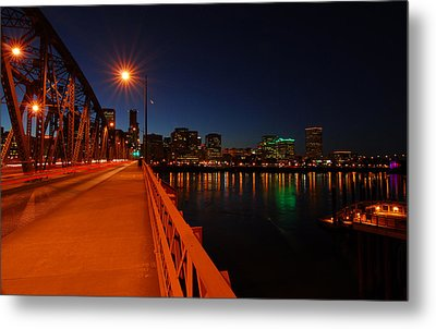 The Hawthorne Bridge  Metal Print by Jean-Jacques Thebault
