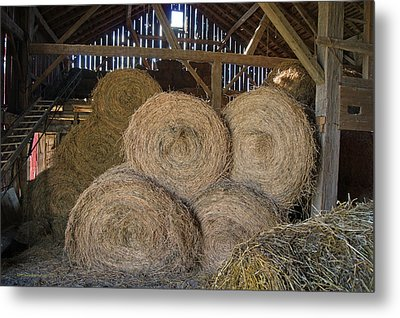 The Hay Barn Metal Print by Steph Maxson