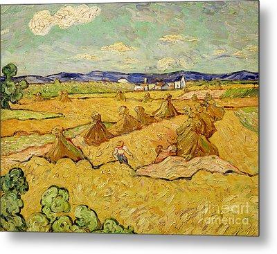 The Haystacks Metal Print by Vincent van Gogh