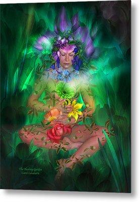 The Healing Garden Metal Print by Carol Cavalaris