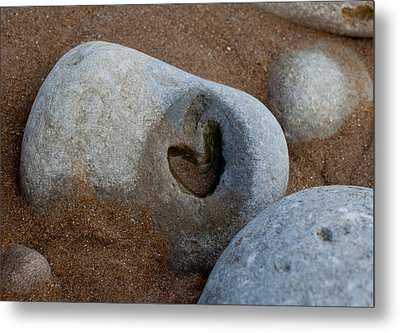 The Heart Of Omaha Beach Metal Print by John Daly