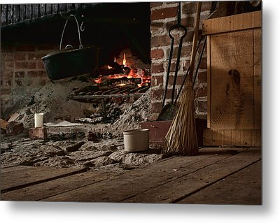 The Hearth - Fireplace Metal Print by Nikolyn McDonald